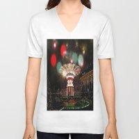 copenhagen V-neck T-shirts featuring Tivoli Gardens Copenhagen by Created by Eleni