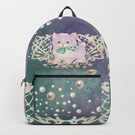 Kitschy Pearl Kitten Backpack