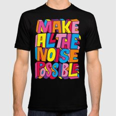 Make all the noise possible! Black MEDIUM Mens Fitted Tee