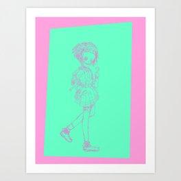 Bubblegum Pirate Art Print