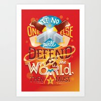 Defend the world Art Print