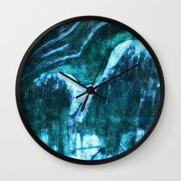Tree Art Blue Wall Clock