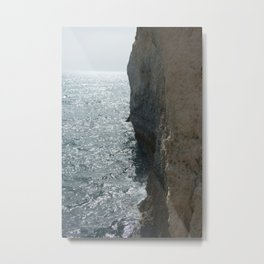 Sea Falaise Metal Print