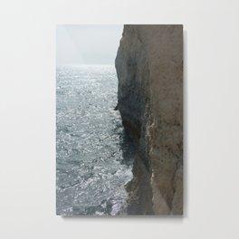 Sea Falaise Metal Print