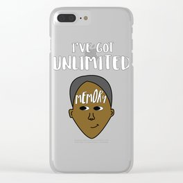 Biggest and Shiniest Forehead Tshirt design Unlimited memory Clear iPhone Case