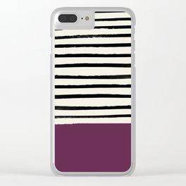 Plum x Stripes Clear iPhone Case