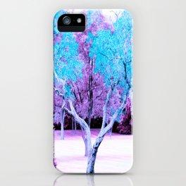 Turquoise Lavender Fantasy Landscape iPhone Case