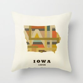 Iowa state map modern Throw Pillow