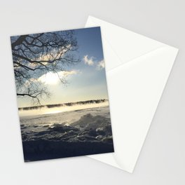 Smoking river Stationery Cards