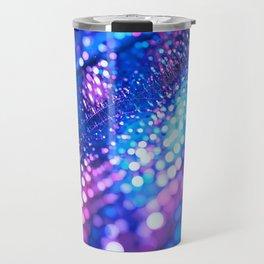 Blue & Violet Glitter Abstracts Travel Mug