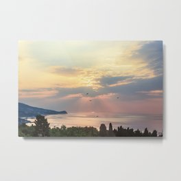 Sea sunrise Metal Print
