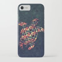 tortoise iPhone & iPod Cases featuring The Pattern Tortoise by VessDSign