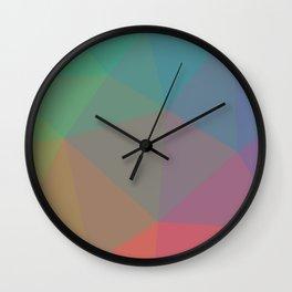 Polygon art 07 Wall Clock