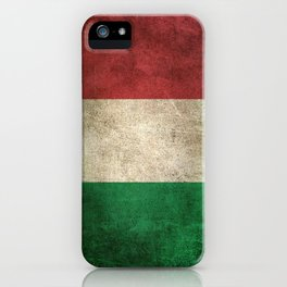 Old and Worn Distressed Vintage Flag of Italy iPhone Case