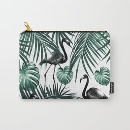 Tropical Flamingo Pattern #6 #tropical #decor #art #society6 Carry-All Pouch