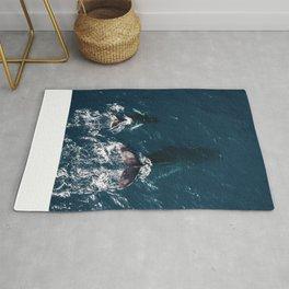 Ocean Family Whales Rug