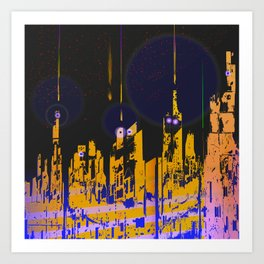 The Influencers Urban Totems Art Print