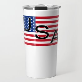 American Flag 4th of July MAGA Patriot Retro USA Travel Mug