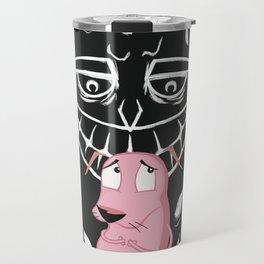 Courage the cowardly dog art print Travel Mug