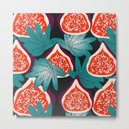 Colorful figs and leaves Metal Print