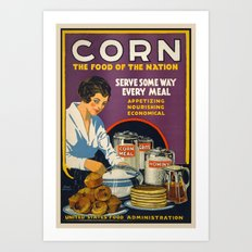 Vintage Corn food Art Print
