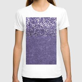 Ultra Violet Glitter Meets Ultra Violet Concrete #1 #decor #art #society6 T-shirt