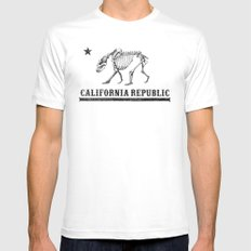 California Republic Mens Fitted Tee White MEDIUM