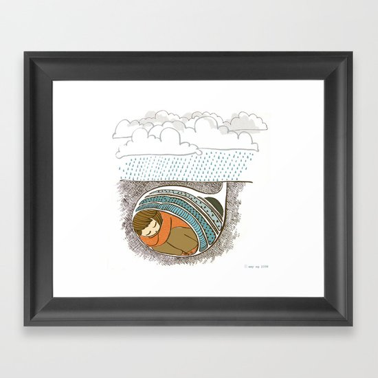 Worry Framed Art Print