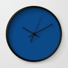 Pug Ride ~ Dodger Blue Coordinating Solid Wall Clock