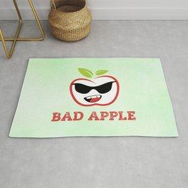 Bad Apple in Black Sunglasses with Attitude Rug