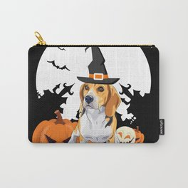 Happy Halloween Little Witch Beagle Carry-All Pouch