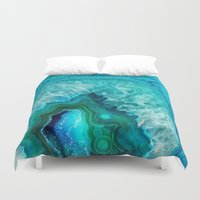 geode Duvet Covers featuring Geode by Jenna Davis Designs