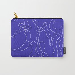 Picasso Line Art - Dancers - Blue Background Carry-All Pouch
