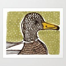 Mr Mallard Art Print