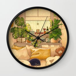 Cozy Space Wall Clock