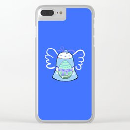 Blue Bell on Blue Clear iPhone Case