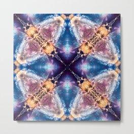 Fluorite with a geometric kaleidoscopic design. Metal Print
