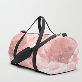 Rose quartz stone Duffle Bag