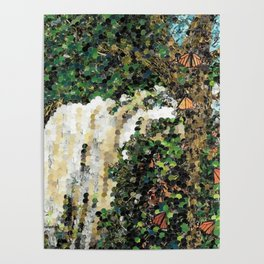 Monarch Waterfall Poster