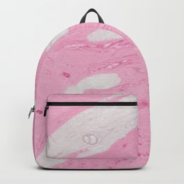 Soft Pink Marble with Cream Swirls Backpack