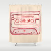 tape Shower Curtains featuring tape by muskawo