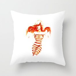 Fiery Water Faery Throw Pillow