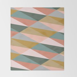 Earthy Diagonals Throw Blanket