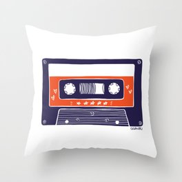 DARVEE - Retro tape Throw Pillow