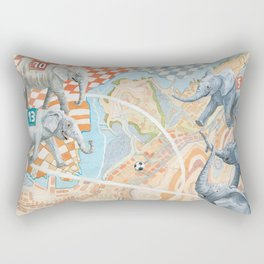 Elephant football game Rectangular Pillow
