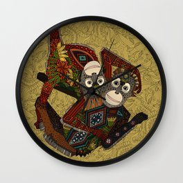 orangutans gold Wall Clock