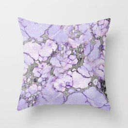 Lavender Marble Throw Pillow