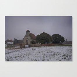 Goodnestone Church In Winter Canvas Print