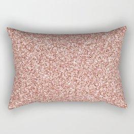 Blush Pink Glitter Rectangular Pillow