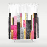 skyline Shower Curtains featuring Skyline by Elisabeth Fredriksson